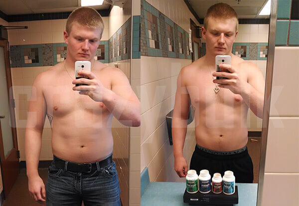 Riley L before and after crazy bulk use