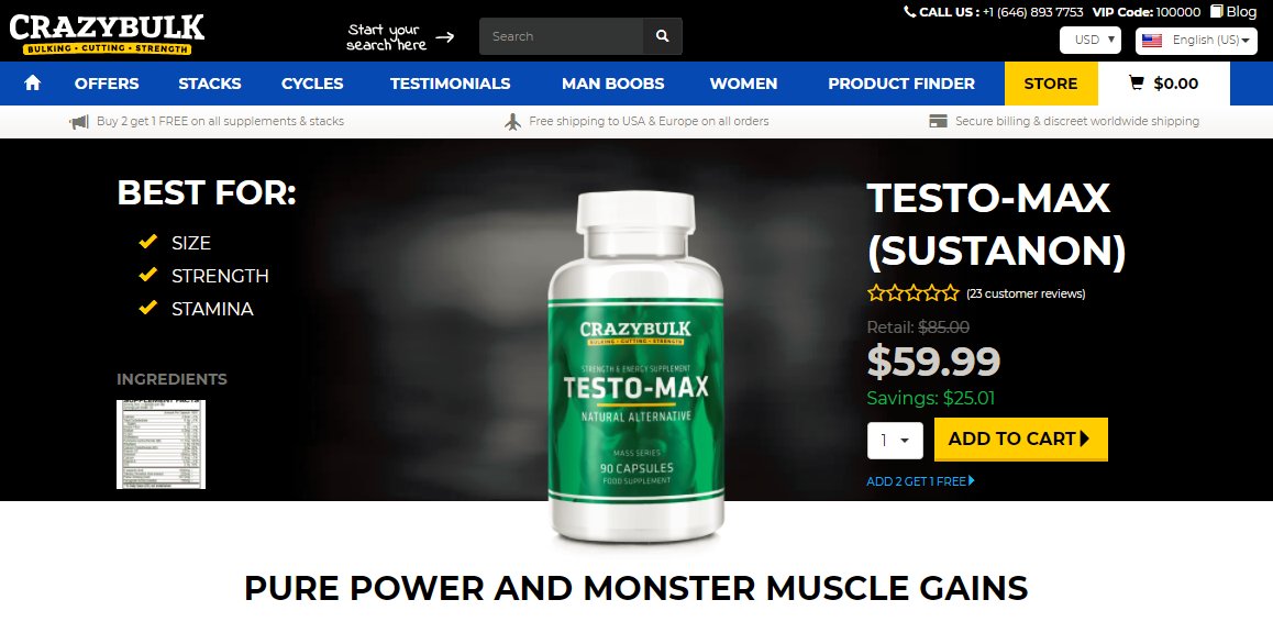 testo max official website