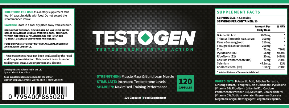 Testogen-Label | Fitness Donkey
