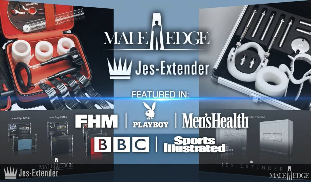 male edge JES extender featured in FHM, playboy, men's health, bbc and sports illustrated
