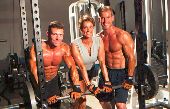 steve holman and becky holman inside gym