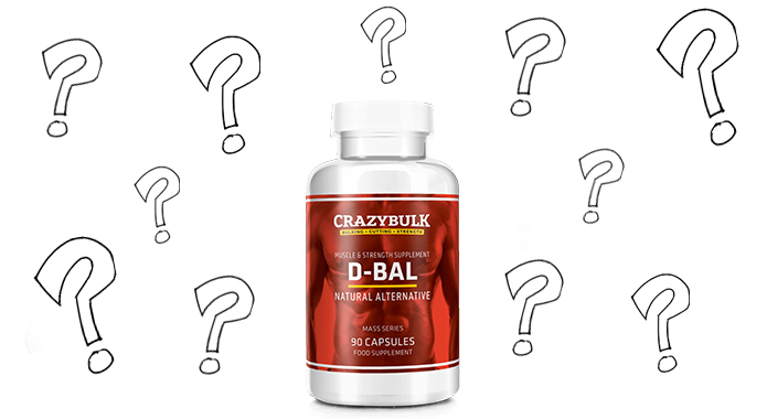 Crazy Bulk D-Bal bottle of supplements and questions