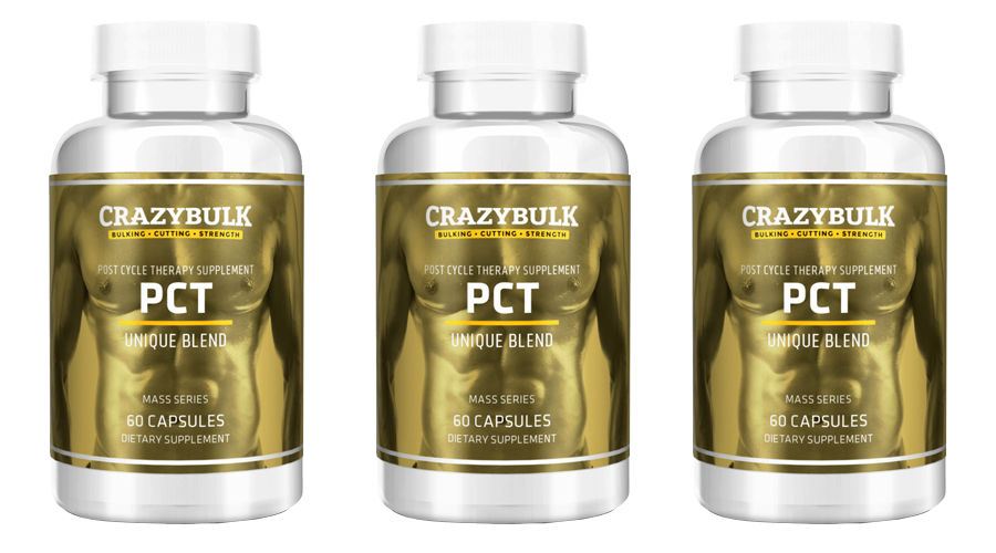 3 post cycle therapy supplement (PCT) bottles