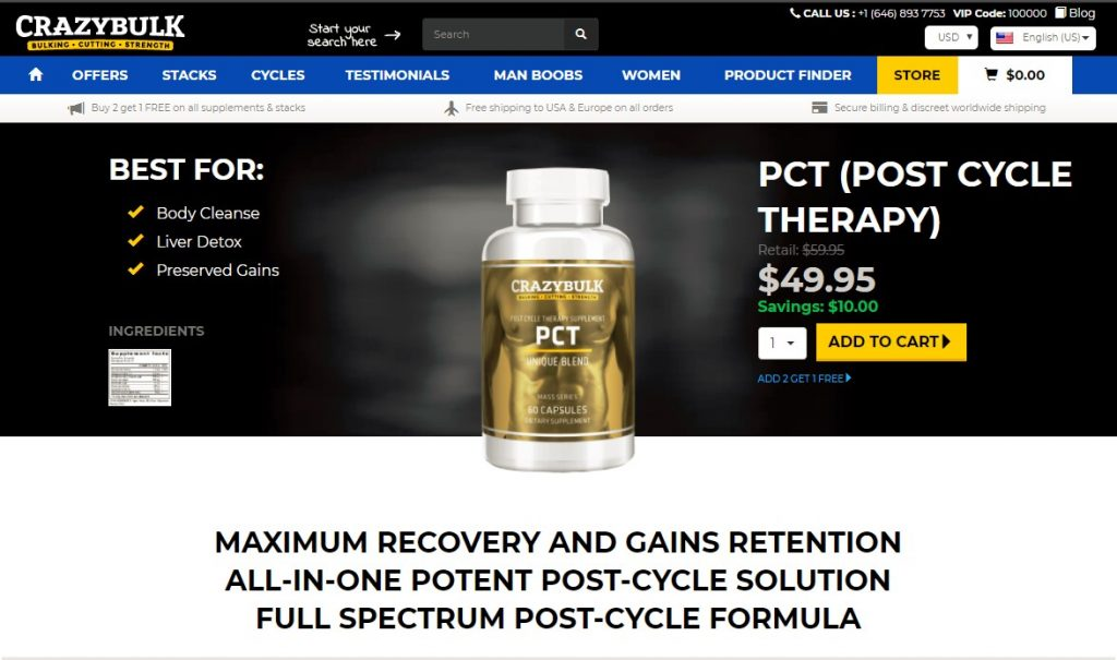 PCT post cycle therapy new official website