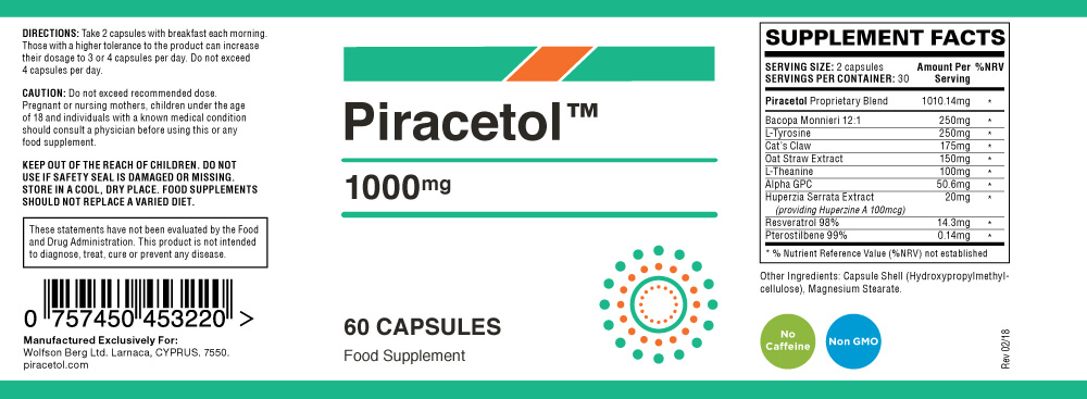 piracetol ingredients list