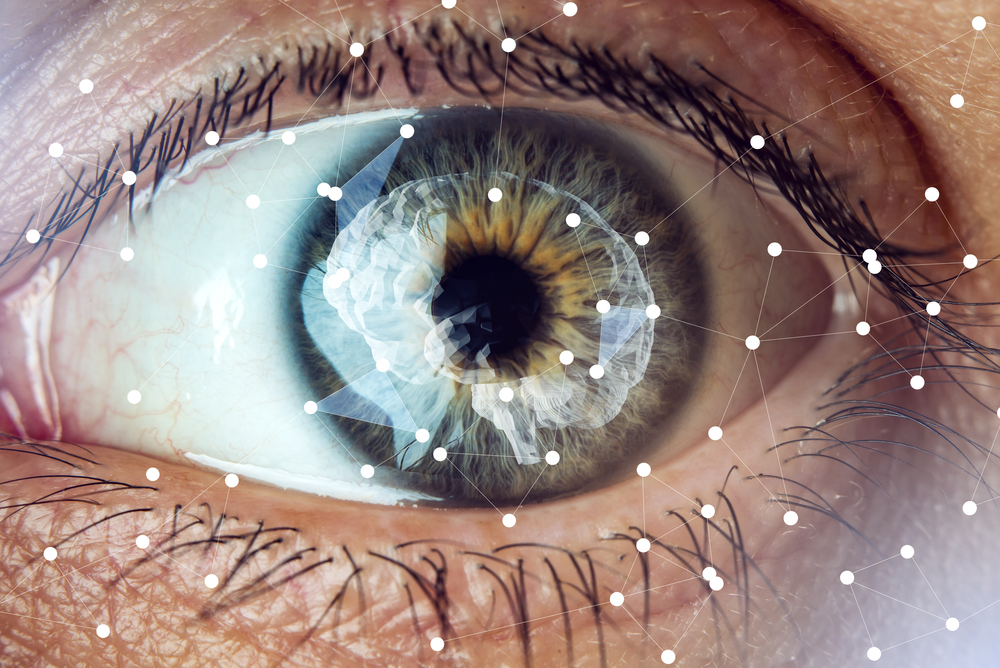 human eye with image of the brain artificial intelligence limitless possibilities of mind